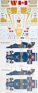 STUDIO 27 1/20 WOLF WR1 1977 1978 #20 SCHECKTER DECAL for TAMIYA