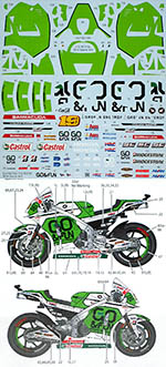 STUDIO 27 1/12 HONDA RC213V-S MOTO GP 2014 GRESINI #19 for TAMIYA
