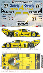 STUDIO 27 1/24 PORSCHE 962C FROM A #27 JSPC 1988 DECAL