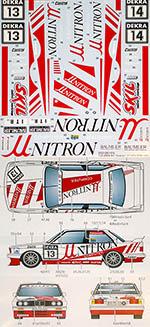 STUDIO 27 1/24  BMW M3 E30 UNITRON #13 #14 DTM 1991