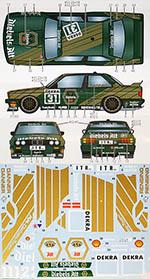 STUDIO 27 1/24 BMW M3 E30 DIEBELS ALT #31 #32 DTM 1991 AOSHIMA