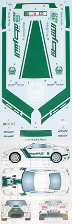 STUDIO 27 1/24 NISSAN R35 GT-R DUBAI POLICE DECAL for AOSHIMA
