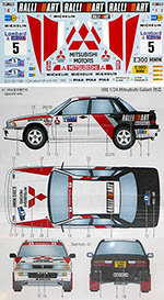 STUDIO 27 1/24 MITSUBISHI GALANT VR-4 CÔTE D'IVOIRE RALLY 90 #5