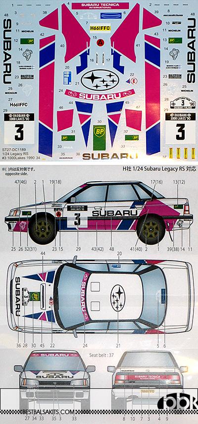 STUDIO 27 1/24 SUBARU LEGACY RS 1000 LAKES 1990 RALLY #3