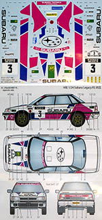 STUDIO 27 1/24 SUBARU LEGACY RS 1000 LAKES 1990 RALLY #3