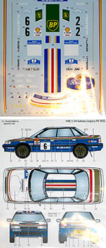 STUDIO 27 1/24 SUBARU LEGACY RS MANX RALLY 1991 #6 #2