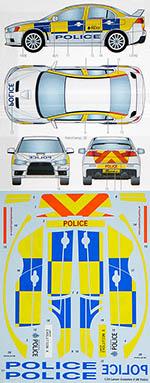 STUDIO 27 1/24 LANCER EVOLUTION X UK POLICE DECAL