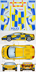 STUDIO 27 1/24 LAMBORGHINI GALLARDO UK POLICE DECAL