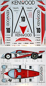 STUDIO 27 1/24 PORSCHE 962C KENWOOD #10 JSPC 1988 DECAL