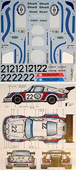 STUDIO 27 1/24 PORSCHE 911 CARRERA RSR TURBO #21 #22 LE MANS 1974