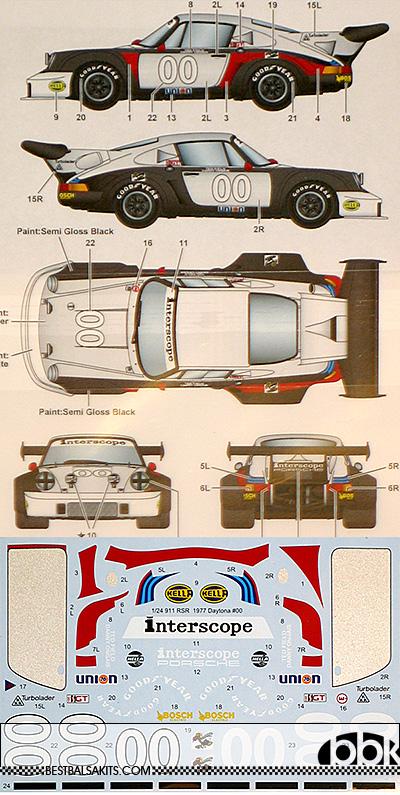 STUDIO 27 1/24 PORSCHE 911 CARRERA RSR TURBO #00 DAYTONA 1977