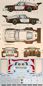 STUDIO 27 1/24 PORSCHE 911 CARRERA RSR TURBO #00 DAYTONA 1977