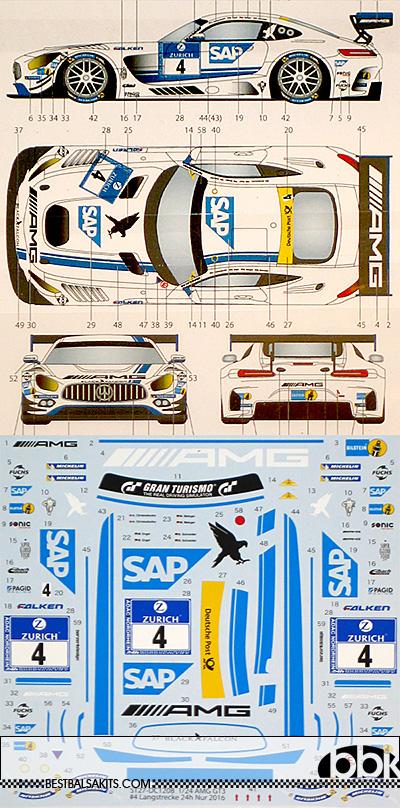 STUDIO 27 1/24 MERCEDES AMG GT3 SAP #4 NURBURGRING 2016 FALKEN