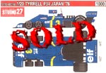 STUDIO 27 1/20 TYRRELL P34 SIX WHEELER JAPAN 76 GP