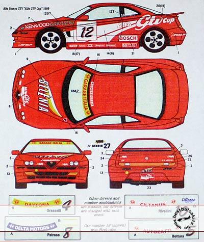 STUDIO 27 1/24 ALFA GTV CUP 1/24 TAMIYA ALFA ROMEO GTV