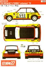 STUDIO 27 1/24 RENAULT R5 TURBO 'CALBERSON' 1979 GIRO D'ITALIA