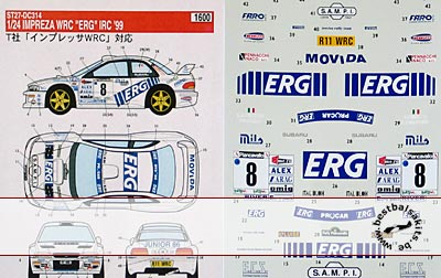 STUDIO 27 1/24 WRC ERG '99 TAMIYA 1/24 SUBARU IMPREZA