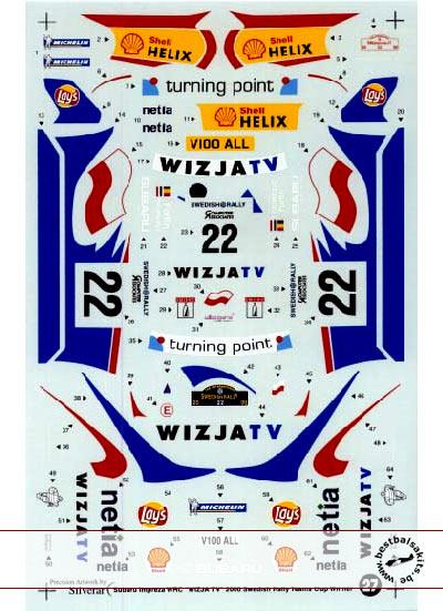 STUDIO 27 1/24 WRC WIZJATV Sweden 00 TAMIYA 1/24 SUBARU IMPREZA