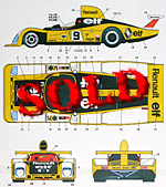 STUDIO 27 1/24 LM 77 DECAL for TAMIYA 1/24 RENAULT ALPINE A442