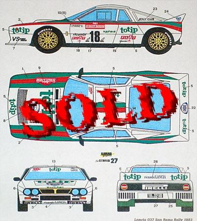 STUDIO 27 1/24 WRC Spike ACROPOLIS 00 TAMIYA 1/24 SUBARU IMPREZA