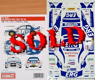 STUDIO 27 1/24 WRC ERG IRC 00 DECAL TAMIYA 1/24 SUBARU IMPREZA