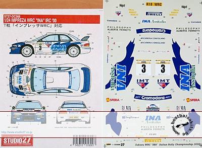 STUDIO 27 1/24 WRC INA IRC 00 DECAL TAMIYA 1/24 SUBARU IMPREZA
