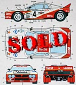 STUDIO 27 1/24 LANCIA 037 WEST EUROPEAN RALLY CHAMPION 1984