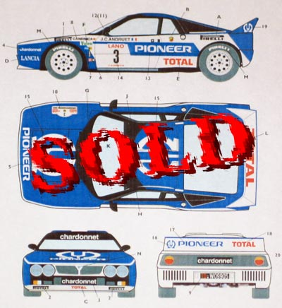 STUDIO 27 1/24 LANCIA 037 RALLY TEAM CHARDONNET 24HRS YPRES 1983