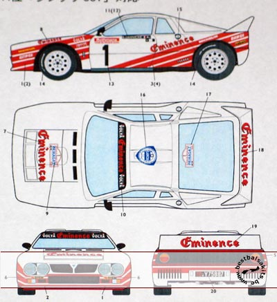 STUDIO 27 1/24 LANCIA 037 RALLY EMINENCE TOUR de FRANCE AUTO 1983