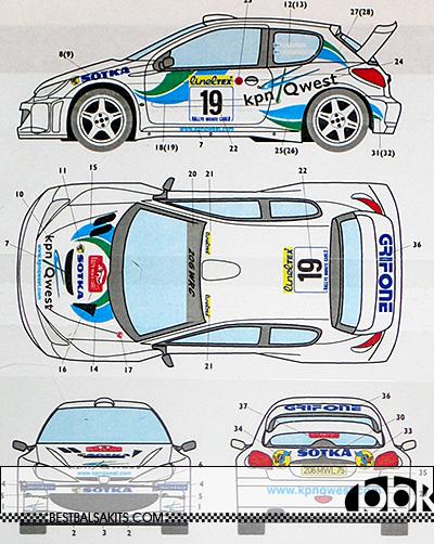STUDIO 27 1/24 PEUGEOT 206 WRC GRIFONE 2001 GARDEMEISTER LUKANDER