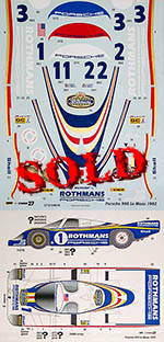 STUDIO 27 1/24 PORSCHE 956 Rothmans Le Mans 1982