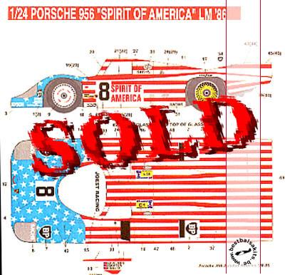 STUDIO 27 1/24 PORSCHE 956 'Spirit of America', LM 1986