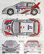 STUDIO 27 1/24 206 WRC #26 #27 POWER HORSE CATALUNYA CORSE 2002