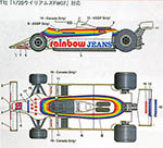 STUDIO 27 1/20 WILLIAMS FW07 RAINBOW JEANS for TAMIYA