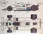 STUDIO 27 1/20 STUDIO27 MURJANI DECAL TAMIYA 1/20 WILLIAMS FW07