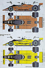 STUDIO 27 1/20 OLD SMUGGLER DECAL TAMIYA 1/20 WILLIAMS FW07