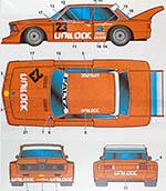 STUDIO 27 1/24 BMW 320i UNILOCK G. VILLENEUVE #23 MOSPORT 6Hrs 77