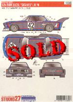 STUDIO 27 1/24 BMW 3.5 CSL 'GITANES' Le Mans 1976