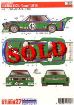 STUDIO 27 1/24 BMW 3.5 CSL 'GOSSER' Le Mans 1976