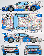 STUDIO 27 1/24 BMW M1 LE MANS 1980 1/24 MAP of FRANCE REVELL ESCI