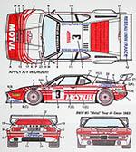 STUDIO 27 1/24 BMW M1 PROCAR #3 MOTUL TOUR DE CORSE 1983
