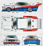 STUDIO 27 1/24 BMW 3.5CSL CALDER WORKS LE MANS '75 PETERSON NILSS