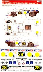 STUDIO 27 1/24 PORSCHE 917K CINZANO BUENOS AIRES 1971