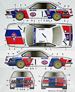 STUDIO 27 1/24 1986 STP INTERTEC DECAL SET TAMIYA 1/24 BMW 635