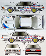 STUDIO 27 1/24 DECAL M TECHNIC ETCC 1983 TAMIYA 1/24 BMW 635