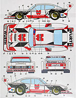 STUDIO 27 1/24 TAMIYA 1/24 CAPRI ZAKSPEED WURTH 81 (WHITE CAR)