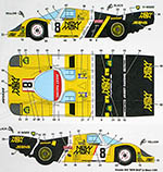 STUDIO 27 1/24 PORSCHE 956 NEW MAN LE MANS 1984