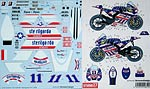 STUDIO 27 1/12 DECAL MOTO GP 09 BEN SPIES TAMIYA 1/12 YZR-M1