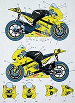 STUDIO 27 1/12 TEAM TECH 3 GP '07 TAMIYA 1/12 YZR-M1