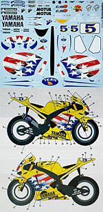STUDIO 27 1/12 STUDIO27 DECAL US MOTO GP06 TAMIYA YZR-M1 EDWARDS